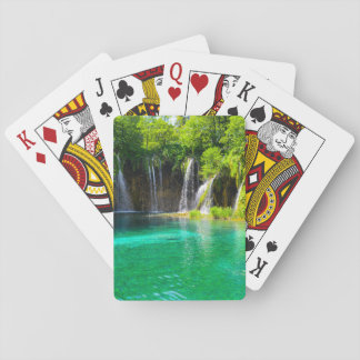 Waterfalls at Plitvice National Park in Croatia Playing Cards