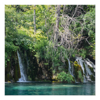Waterfalls at Plitvice National Park in Croatia Poster