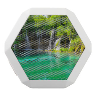 Waterfalls at Plitvice National Park in Croatia White Bluetooth Speaker