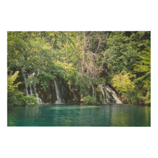 Waterfalls at Plitvice National Park in Croatia Wood Wall Decor
