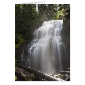 Waterfalls Flowing Down A Rock Cliff Card