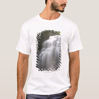 Waterfalls Flowing Down A Rock Cliff T-Shirt
