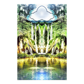 Waterfalls from the cloud stationery