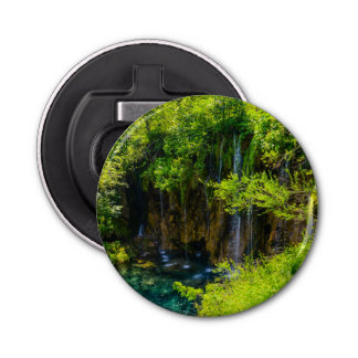 Waterfalls in Plitvice National Park in Croatia Bottle Opener