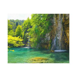 Waterfalls in Plitvice National Park in Croatia Canvas Print