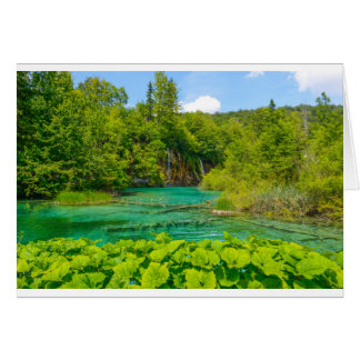 Waterfalls in Plitvice National Park in Croatia Card
