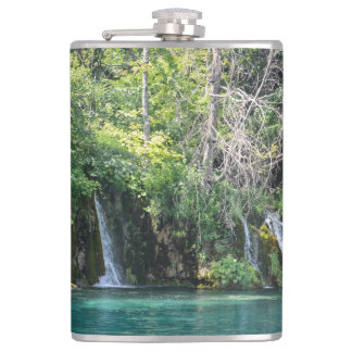 Waterfalls in Plitvice National Park in Croatia Flasks