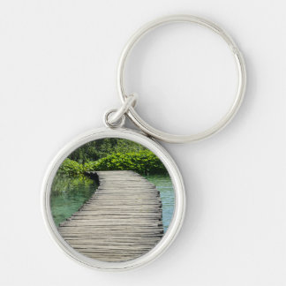 Waterfalls in Plitvice National Park in Croatia Key Ring