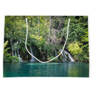Waterfalls in Plitvice National Park in Croatia Large Gift Bag