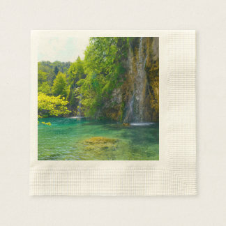 Waterfalls in Plitvice National Park in Croatia Paper Serviettes