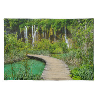 Waterfalls in Plitvice National Park in Croatia Placemat