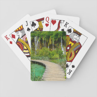 Waterfalls in Plitvice National Park in Croatia Playing Cards