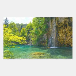 Waterfalls in Plitvice National Park in Croatia Rectangular Sticker