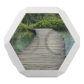 Waterfalls in Plitvice National Park in Croatia White Bluetooth Speaker