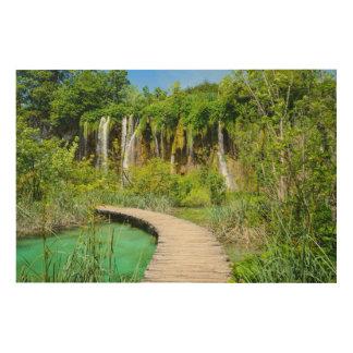 Waterfalls in Plitvice National Park in Croatia Wood Print