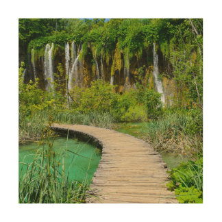 Waterfalls in Plitvice National Park in Croatia Wood Wall Art