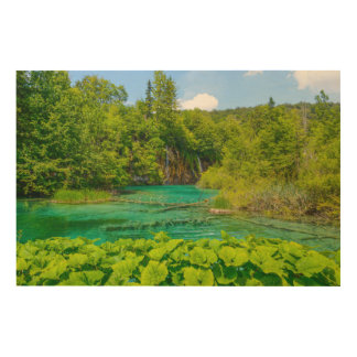 Waterfalls in Plitvice National Park in Croatia Wood Wall Decor
