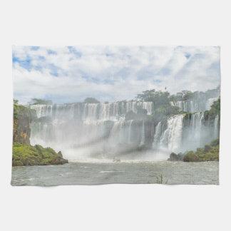 Waterfalls Landscape at Iguazu Park Hand Towel