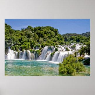 Waterfalls of Krka National Park in Croatia Europe Poster