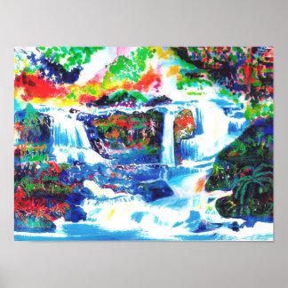Waterfalls. Poster