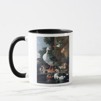 Waterfowl in a classical landscape, 17th century mug