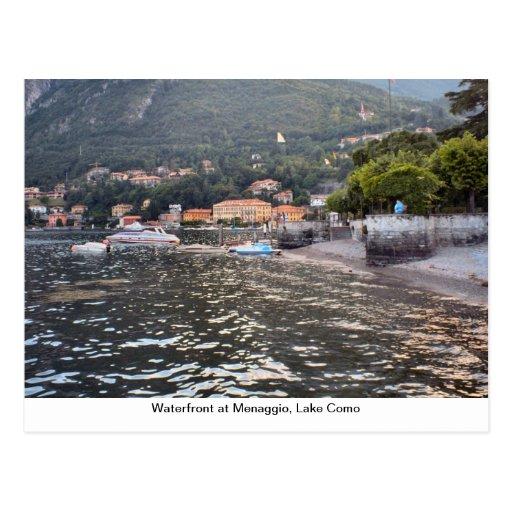 Waterfront at Menaggio, Lake Como Postcards