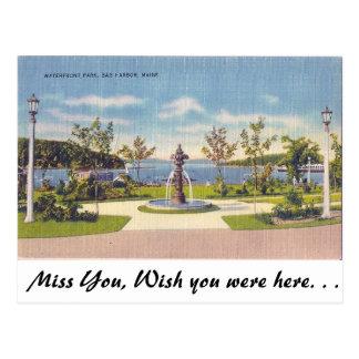 Waterfront, Bar Harbor, Maine Postcard