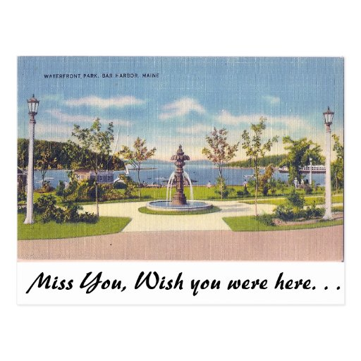 Waterfront, Bar Harbor, Maine Post Cards