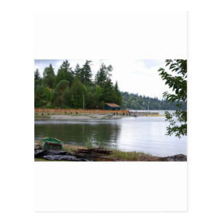 Waterfront cabin postcard