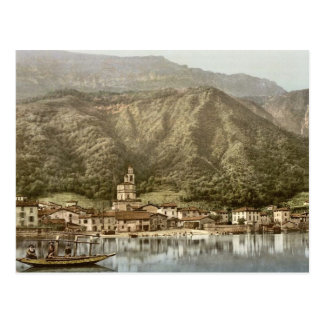 Waterfront, Campione, Italy classic Photochrom Postcard