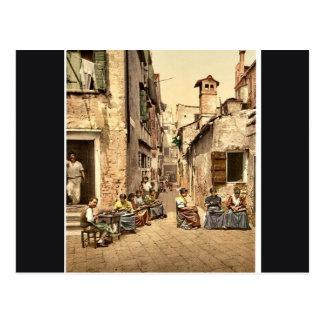 Waterfront, Garda, Lake of, Italy classic Photochr Postcard