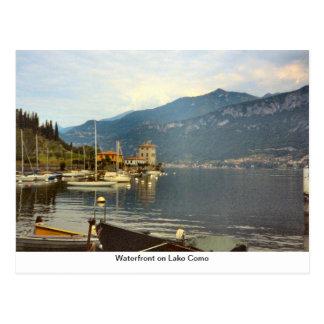Waterfront on Lake Como Postcard