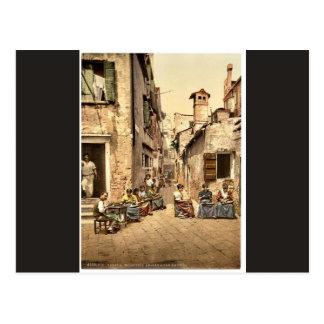Waterfront promenade, San Remo, Riviera classic Ph Post Cards
