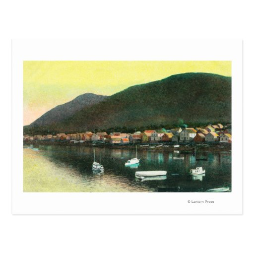 Waterfront View of Indian TownSitka, AK Postcards