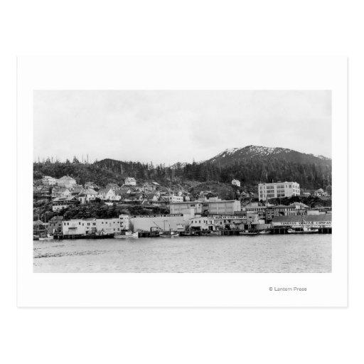 Waterfront View of Ketchikan, Alaska Photograph Post Card