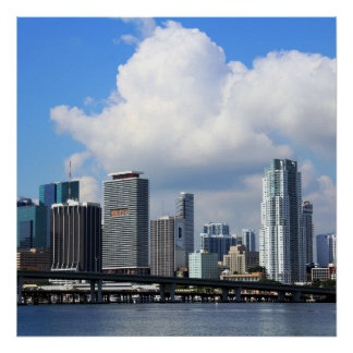 Waterfront view of Miami Poster
