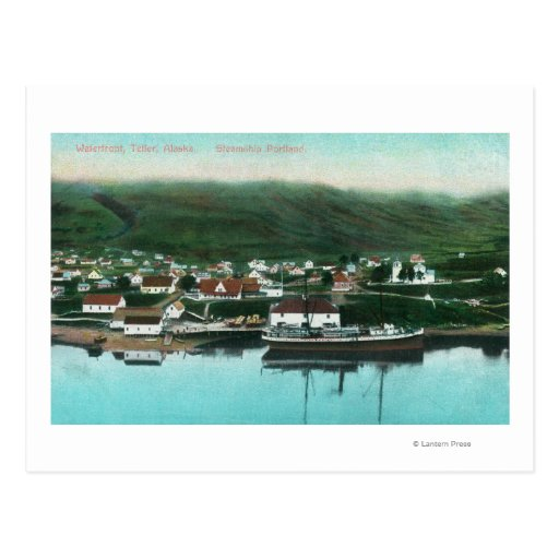 Waterfront View of the City and Steamer Post Card