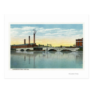 Waterfront View of the Congress Street Bridge Postcards