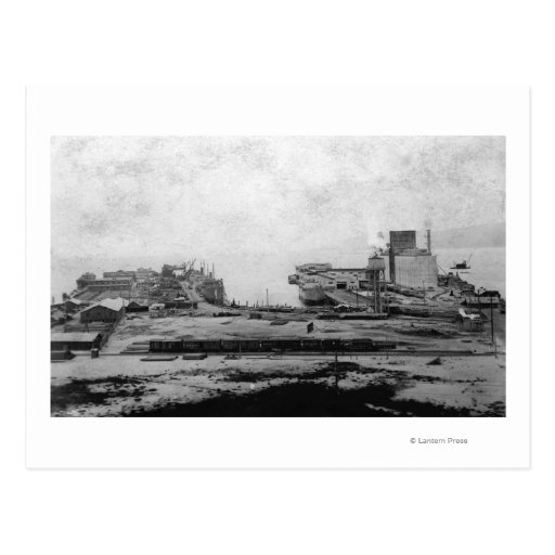 Waterfront warehouses at Astoria, OR Photograph Post Card