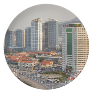 Waterfront with Yantai city skyline, Shandong Party Plates