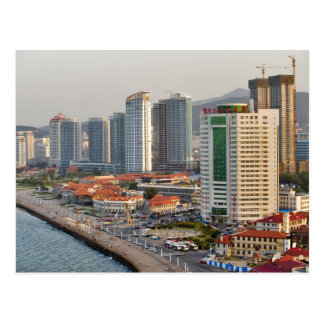 Waterfront with Yantai city skyline, Shandong Post Card