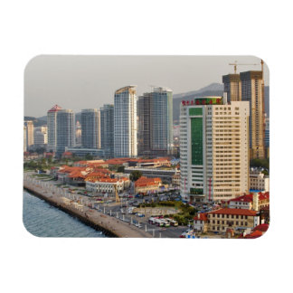Waterfront with Yantai city skyline, Shandong Rectangular Photo Magnet