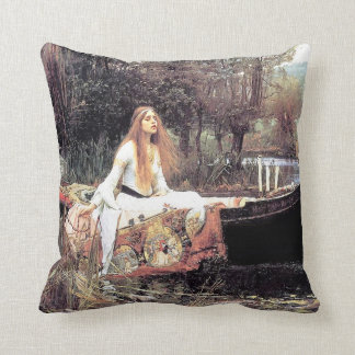 Waterhouse Lady of Shallot Throw Pillow