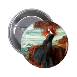 Waterhouse Miranda The Tempest Button