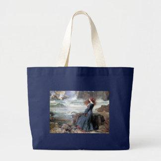 Waterhouse miranda the tempest woman ship wreck large tote bag