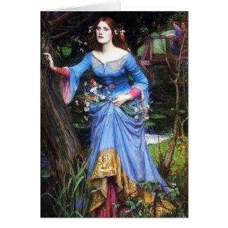 Waterhouse Ophelia Card