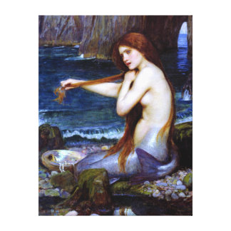 Waterhouse: The Mermaid Canvas Print