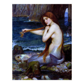 Waterhouse: The Mermaid Poster