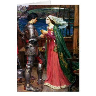 Waterhouse Tristan and Isolde Greeting Card