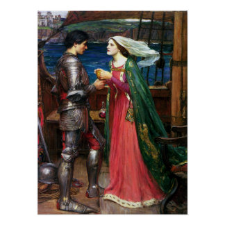 Waterhouse Tristan and Isolde Poster